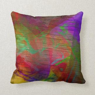 Almohada multicolora del extracto de las cojín decorativo