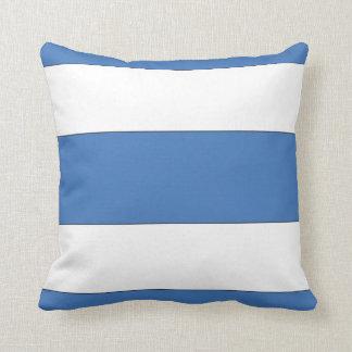 Almohada náutica azul de la raya