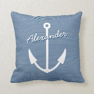 Almohada náutica de la decoración del cuarto de