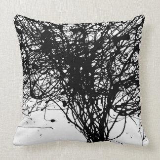 Almohada negra blanca fresca de la decoración de