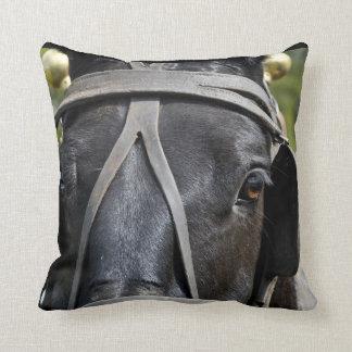 Almohada negra del caballo de proyecto