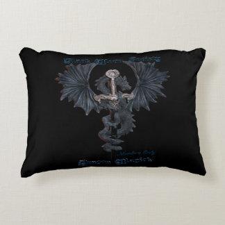 Almohada negra del dragón de la sociedad de la cojín
