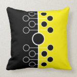 Almohada negra y amarilla moderna y simple