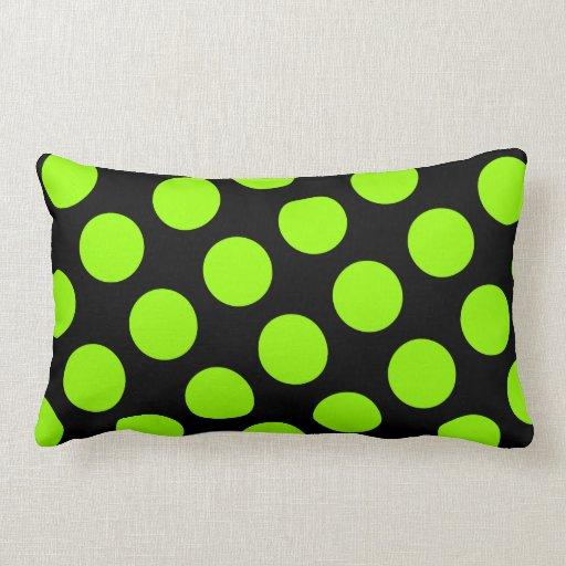 Almohada negra y verde grande de MoJo del