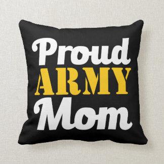 Almohada orgullosa de la mamá del ejército cojín decorativo