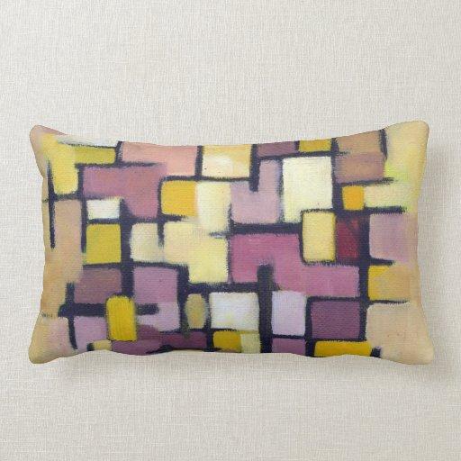 Almohada original abstracta púrpura del arte de lo
