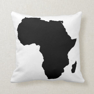Almohada Overstuffed negra de África y blanca Cojín Decorativo