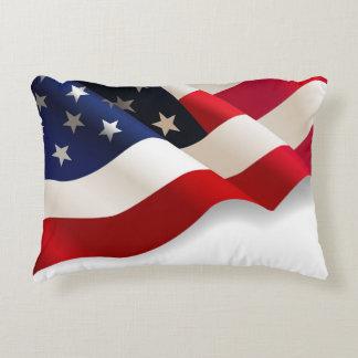 Almohada patriótica de Thow de la bandera Cojín