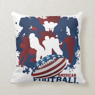 Almohada patriótica del fútbol americano
