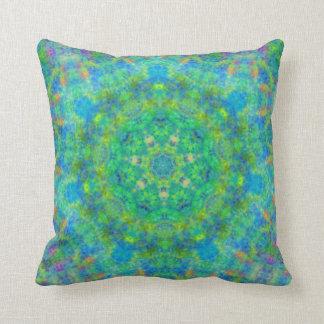 Almohada persa del diseño de la manta del verde az