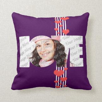 Almohada personalizada amor de la foto del el día