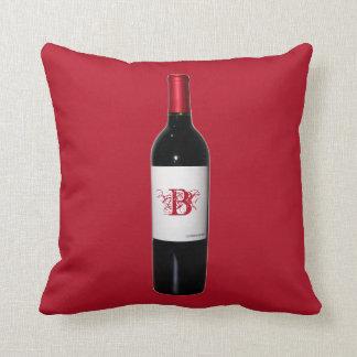 Almohada personalizada de la botella de vino