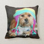 Almohada personalizada de la foto del mascota cojín decorativo