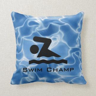 Almohada personalizada de la nadada