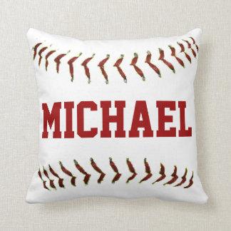 Almohada personalizada del béisbol cojín decorativo
