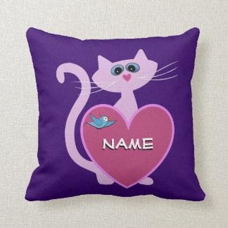 Almohada personalizada del gato de la masilla