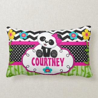 Almohada personalizada del oso de panda del sitio