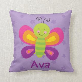 Almohada personalizada mariposa colorida