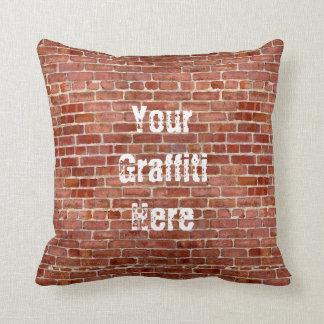 Almohada personalizada pared de ladrillo de la pin
