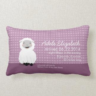 Almohada personalizada púrpura del bebé del