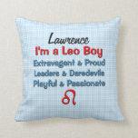 Almohada personalizada zodiaco de Leo del bebé