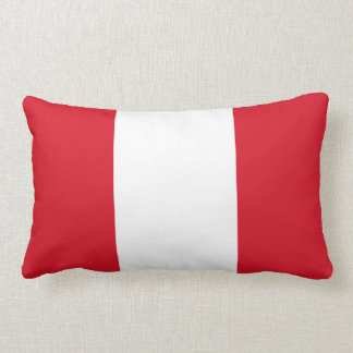 Almohada peruana de la bandera