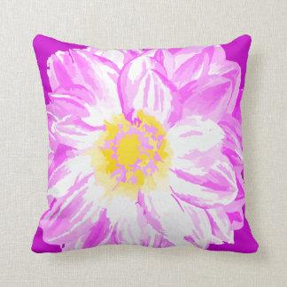Almohada pintada vintage amarillo púrpura de la fl