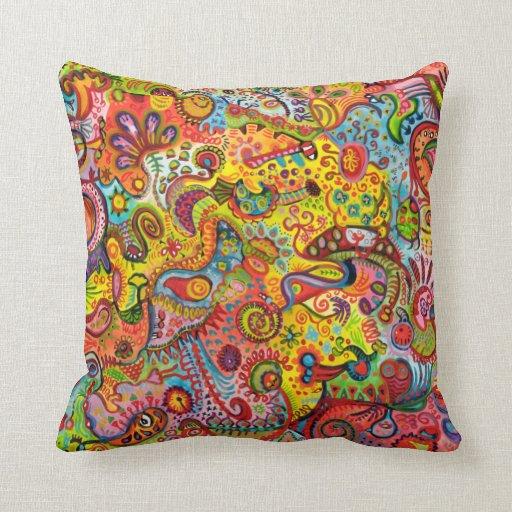 Almohada psicodélica del arte abstracto