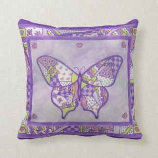 Almohada púrpura de la mariposa