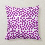 Almohada púrpura de los puntos, amortiguador