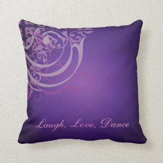 Almohada púrpura de Mojo de la danza de la voluta