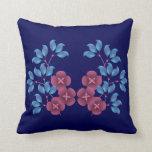 Almohada púrpura de Mojo del americano de las flor