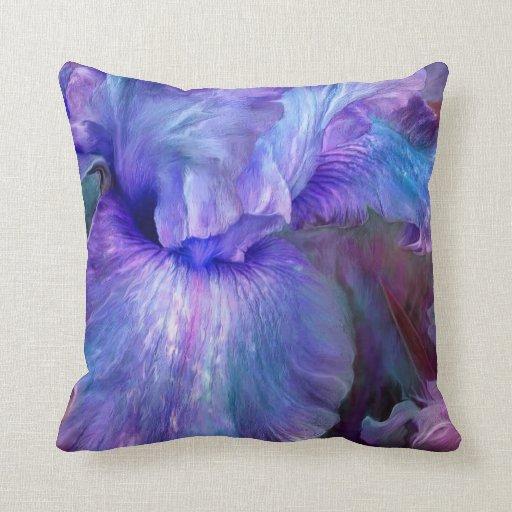 Almohada púrpura del decorador del arte de los hum