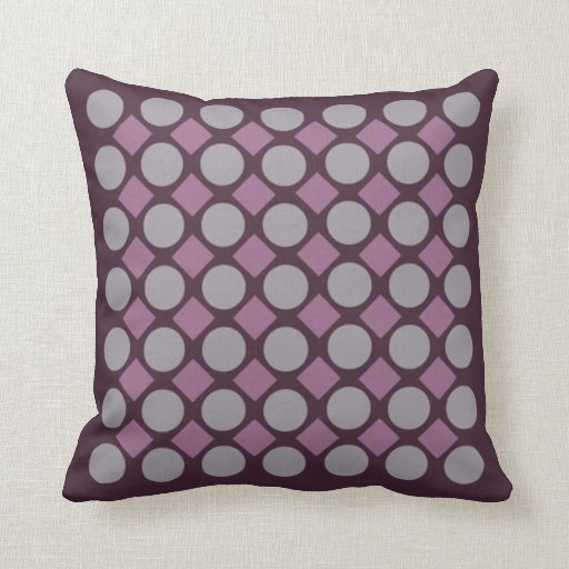 Almohada púrpura del punto