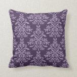 Almohada púrpura francesa del damasco