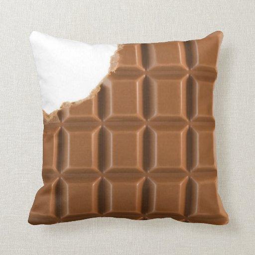 Almohada que falta de la barra de chocolate de la