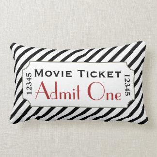 Almohada rayada del cine del boleto de la película