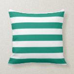 Almohada rayada intrépida del verde esmeralda