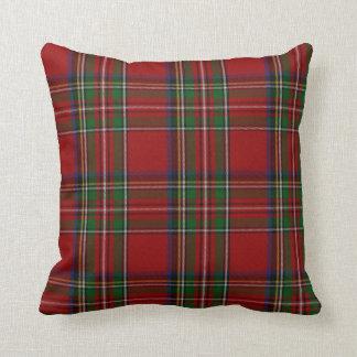 Almohada real elegante de la tela escocesa de