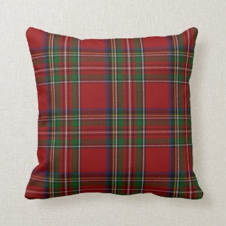 Almohada real elegante de la tela escocesa de cojín decorativo