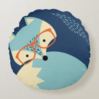 Almohada redonda azul del dibujo animado de los cojín redondo