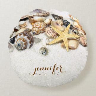 Almohada redonda de encargo de los Seashells Cojín Redondo