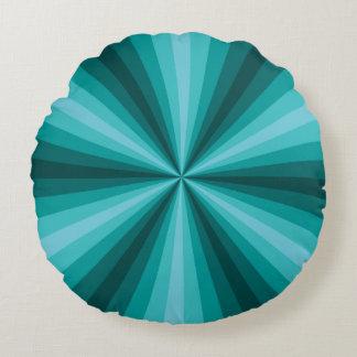 Almohada redonda de la aguamarina de la ilusión cojín redondo