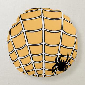 Almohada redonda de la araña de Halloween Cojín Redondo