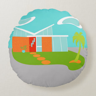 Almohada redonda de la casa moderna del dibujo cojín redondo