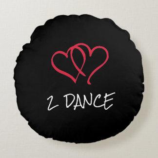 Almohada redonda de la danza del amor 2 cojín redondo
