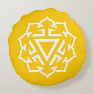Almohada redonda de la energía de Chakra del plexo Cojín Redondo