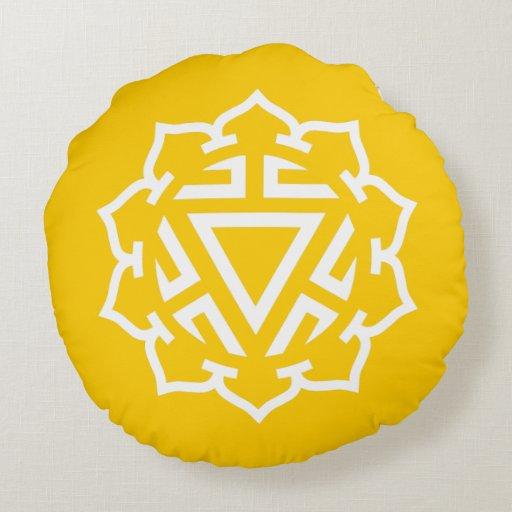 Almohada redonda de la energía de Chakra del plexo