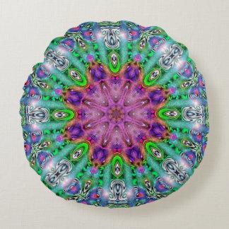 Almohada redonda de la mandala del solsticio del