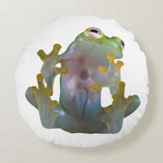 Almohada redonda de la rana de cristal cojín redondo